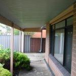 Rear verandah of Adelaide house
