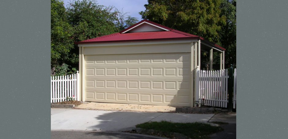 Carport With A Garage Door