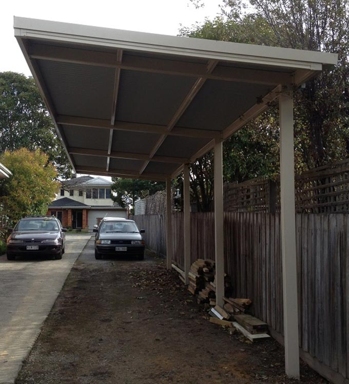 Cantilevered carports a smart idea - Outside Concepts