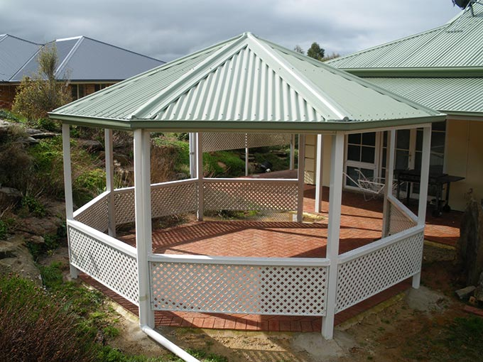 Adelaide gazebos makes a stylish addition to a house... Or park!