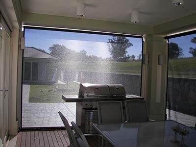 Keeping the bugs out is one of the advantages of Sydney outdoor blinds.